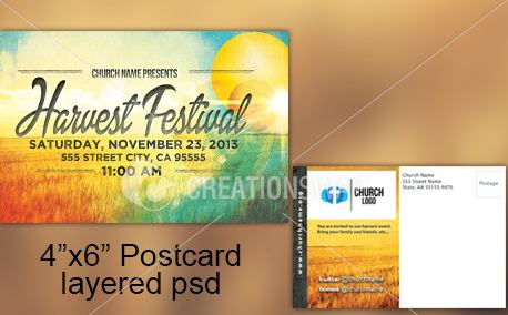 Harvest Postcard (21535)