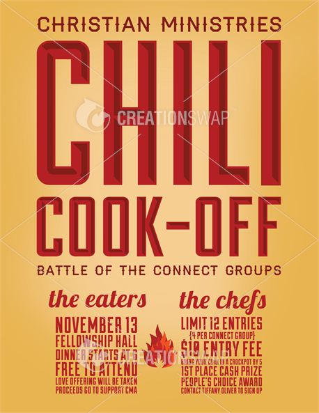Media Chili Cook Off Flyer Creationswap