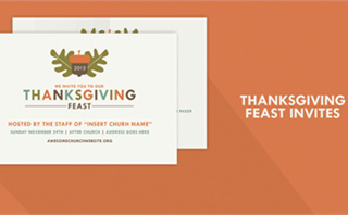 Thanksgiving Feast Postcard