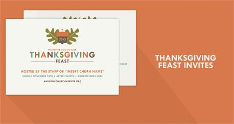 Thanksgiving Feast Postcard (21780)
