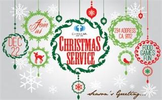 Christmas Service Invite