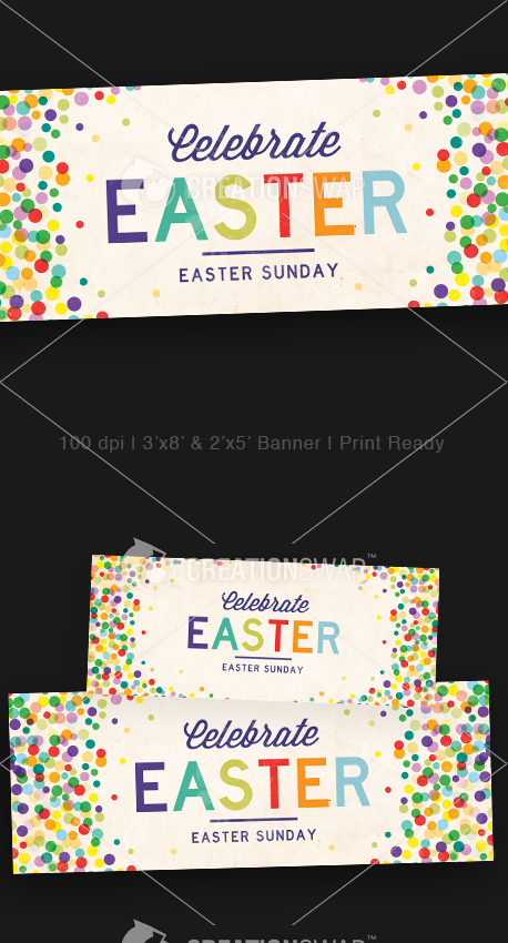 Easter Dots Banners (23107)