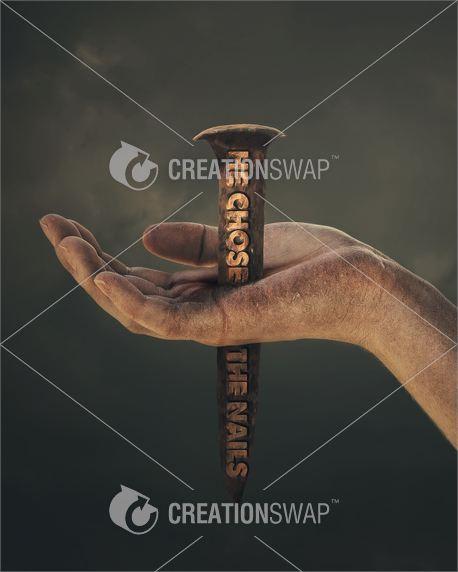 Nail through the hand (23283)