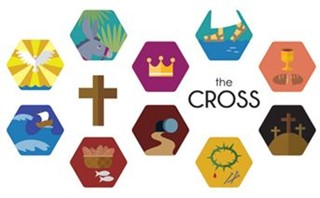 the Cross Flat Icons