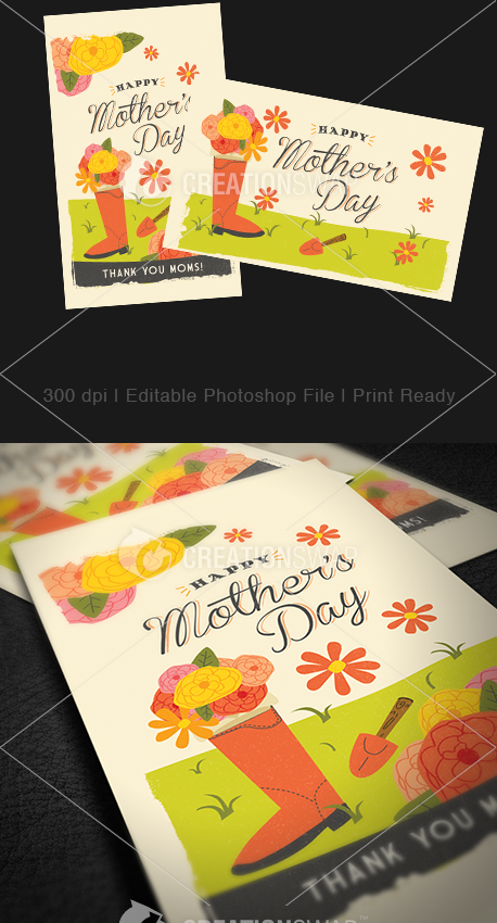 Mother's Day Invitation Cards (23598)