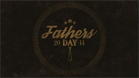 Retro Father's Day Logo (23624)