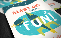Space Adventures Invite Cards