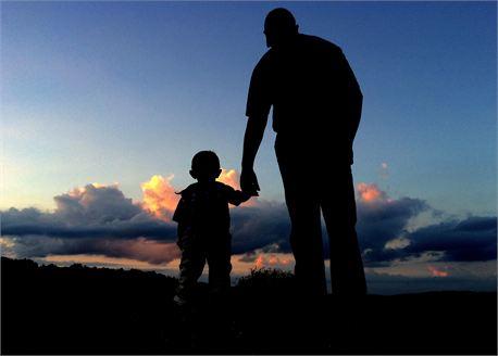 Father & Son Silhouette  (24105)