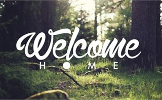 Welcome Home - Forest Green