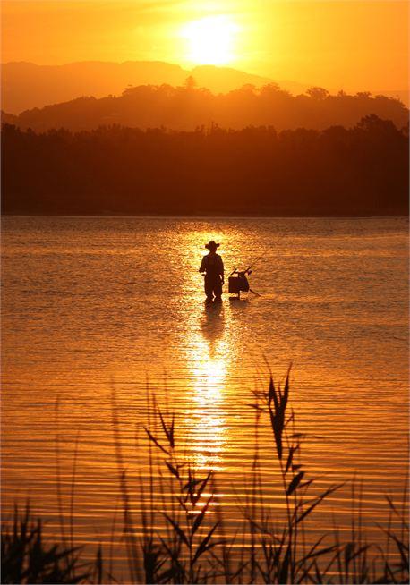 fisherman at sunset (24545)