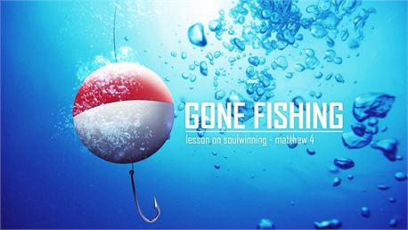 Gone Fishing Series Slide (24730)