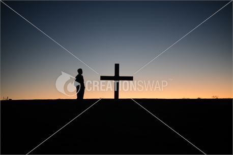 standing by cross (25191)