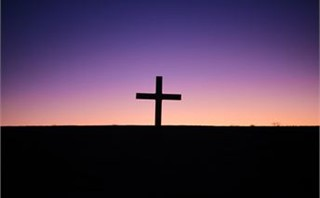 silhouette of cross alone