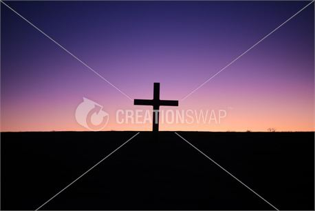silhouette of cross alone (25199)