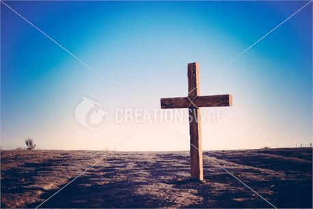 cross alone with blue tint (25233)