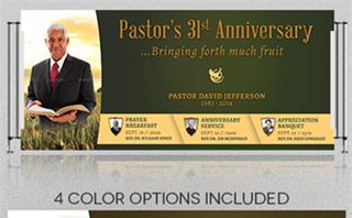 Pastor Anniversary Banner 2