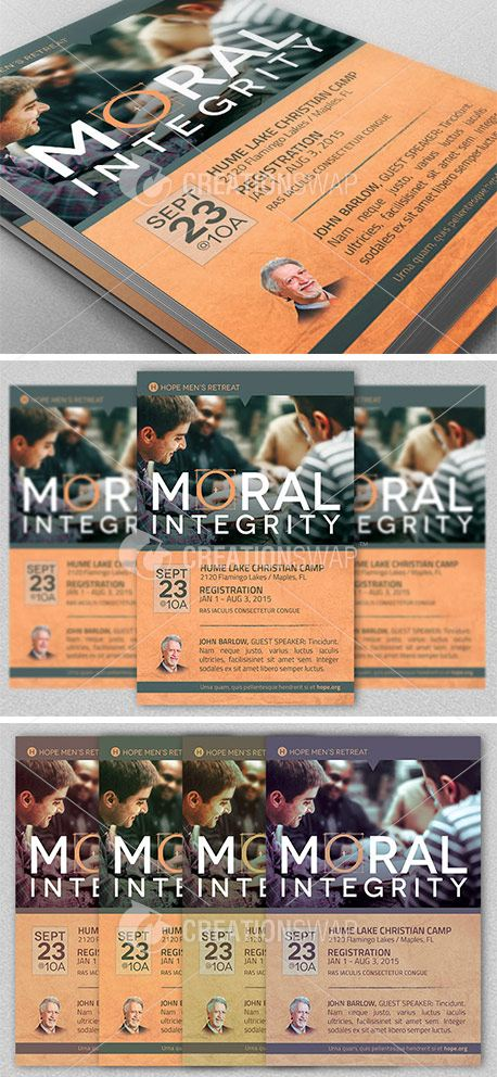 Moral Integrity Church Flyer (25490)