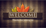Fall Banner Welcome (25523)