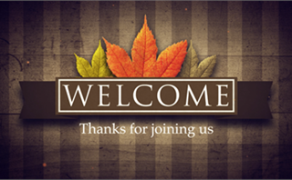 Fall Banner Welcome