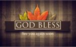Fall Banner God Bless (25524)