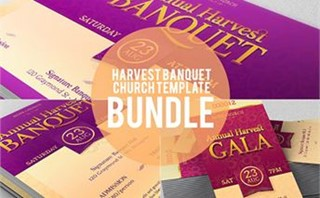 Banquet Flyer and Ticket Set