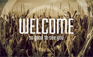 Fall Corn Field Welcome