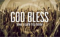 Fall Corn Field God Bless