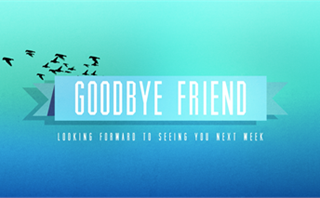 Blue Banner Goodbye