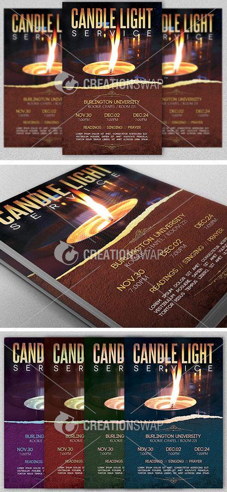 media candle light service flyer creationswap