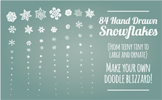 84 Hand Drawn Snowflakes