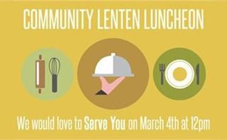 Lenten Luncheon Facebook Post