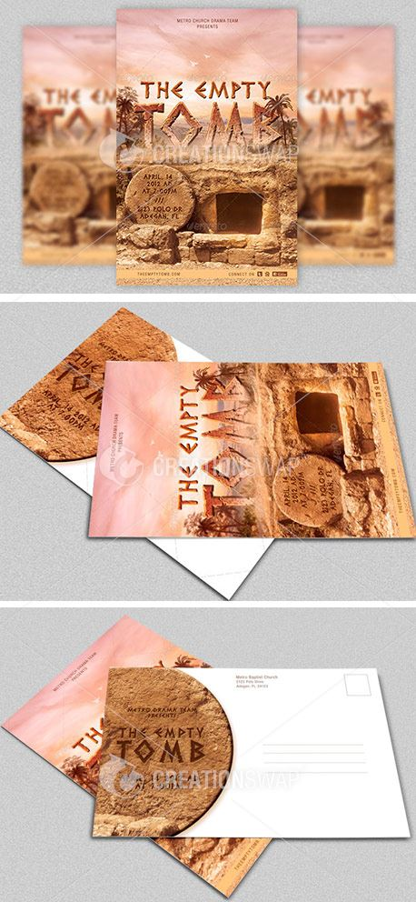 Empty Tomb Postcard Template (28870)