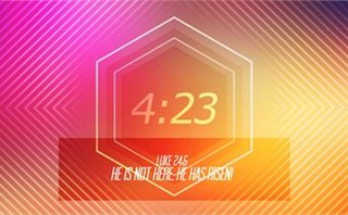 Hexagon Easter Countdown