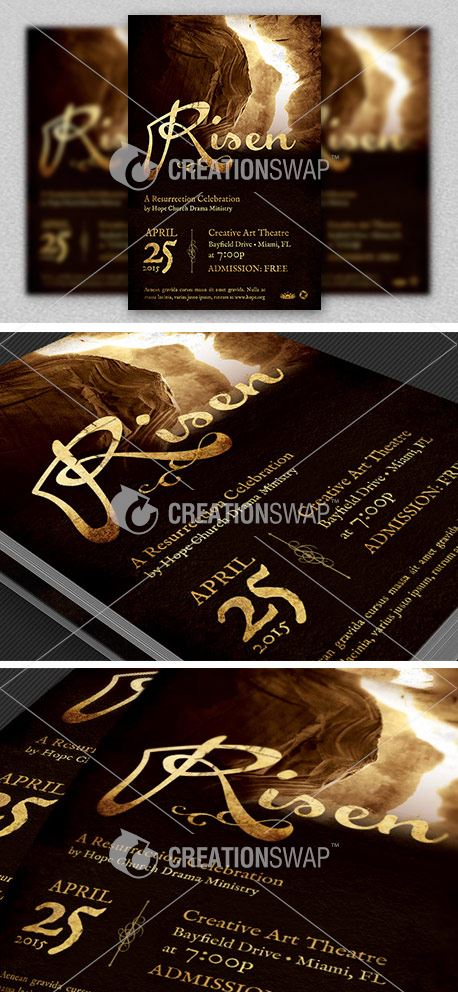 Risen Church Flyer Template (29124)
