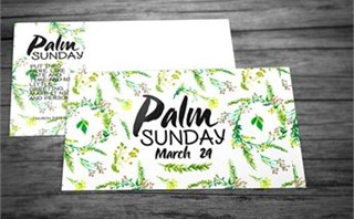 Floral Palm Sunday Invites