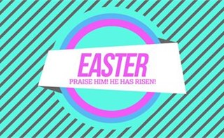 80's Easter He Has Risen