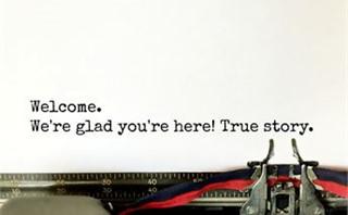 Welcome typewriter