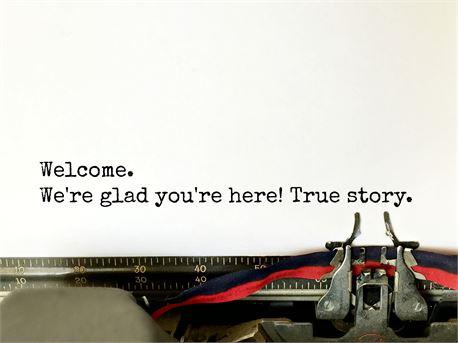Welcome typewriter (29735)