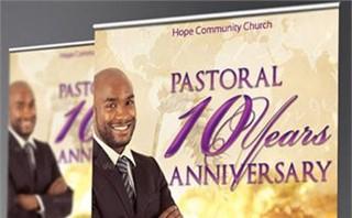Clergy Anniversary Banner