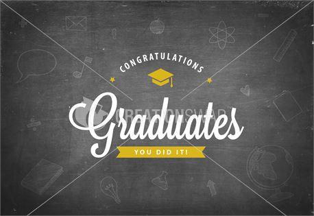 Congrats Graduates Black (30614)