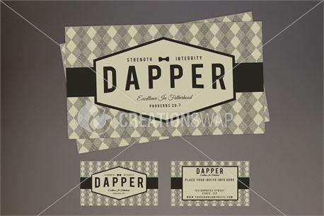 Dapper Invite Card (30647)