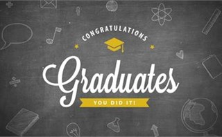 Graduation Banner Black