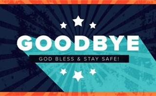 Happy 4th - Goodbye