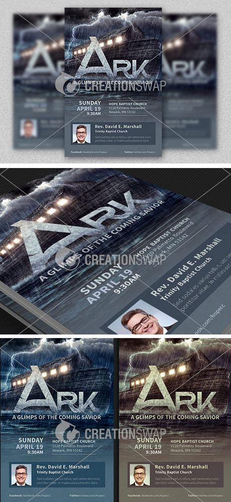 Ark Church Flyer Template (32379)
