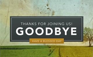Pastor Appreciation - Goodbye