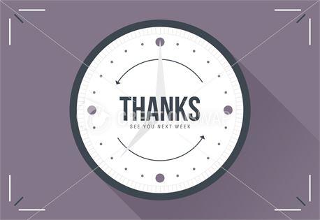 Set Back Clocks - Thanks (33509)