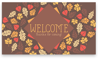 Thanksgiving Leaves: Welcome