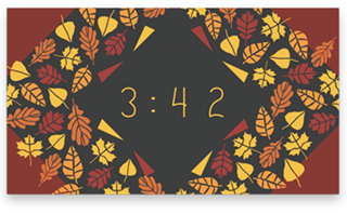 Thanksgiving Leaves: Countdown