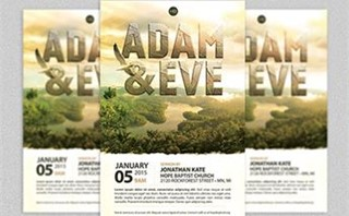 Adam and Eve Flyer Template