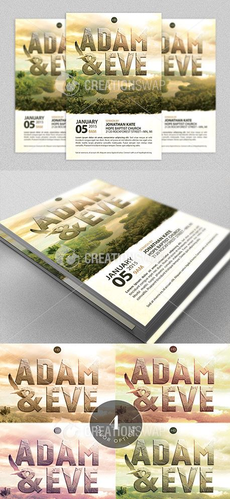 Adam and Eve Flyer Template (33758)